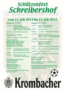 Plakat-Schuetzenfest Schreibeershof 2014
