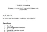 Mitgliederversammlung Königsanwärterclub 2018