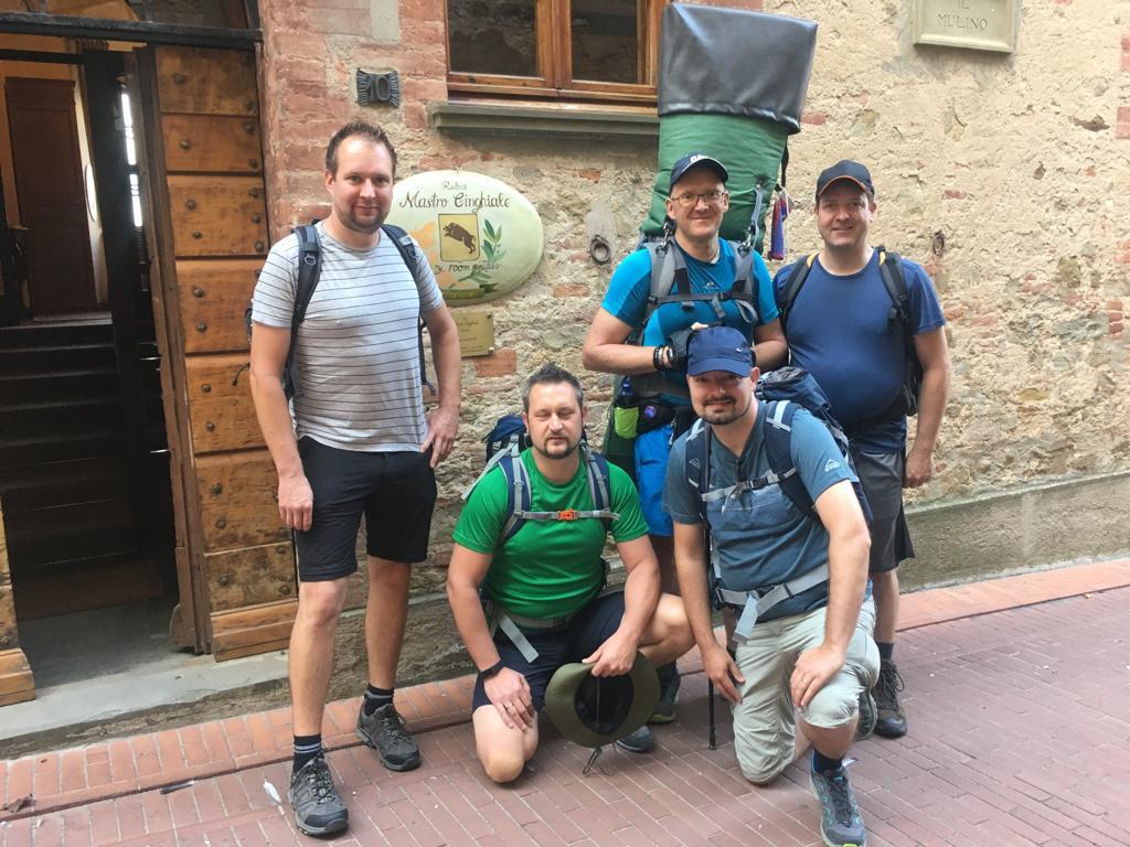 GSB – Tagebuch 02.10.19 – Mit der Fahne nach Citta' della Pieve