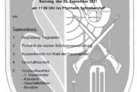 Einladung Schützenversammlung